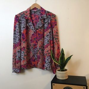 Vintage Button Up Blouse